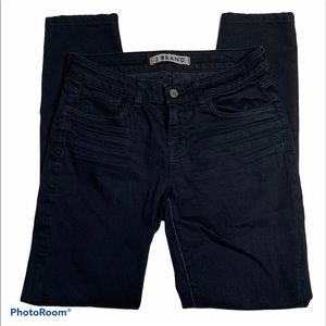 J BRAND Straight Leg Dark Wash Distressed Jeans